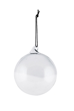 House Doctor Ornament All glass Light Grey 12 cm - Fransenhome