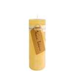Lübech Living Timber Candle lys Pale Yellow højde 20 cm - Fransenhome