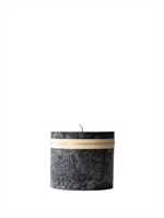 Lübech Living Timber Candle lys Sort højde 7,5 cm - Fransenhome