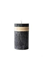 Lübech Living Timber Candle lys Sort højde 15 cm - Fransenhome