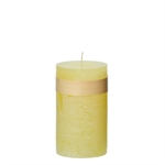 Lübech Living Timber Candle lys Limelight højde 15 cm - Fransenhome