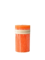 Lübech Living Timber Candle lys Orange højde 15 cm - Fransenhome