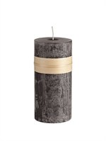 Lübech Living Timber Candle lys Charcoal højde 23 cm - Fransenhome