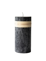 Lübech Living Timber Candle lys Sort højde 23 cm - Fransenhome