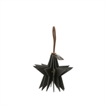 Lübech Living Felt Star ornament hanging black - Fransenhome