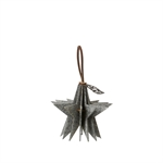 Lübech Living Felt Star ornament hanging grey - Fransenhome