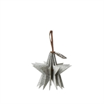 Lübech Living Felt Star ornament hanging white - Fransenhome