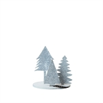 Lübech Living Trio of eco-felt xmas trees hvid - Fransenhome