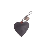 Lübech Living Heart Ornament padded xmas sort - Fransenhome