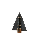 Lübech Living Xmas paper tree on woodenbase sort 15 cm - Fransenhome