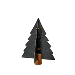 Lübech Living Xmas paper tree on woodenbase sort 20 cm - Fransenhome