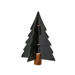 Lübech Living Xmas paper tree on woodenbase sort 25 cm - Fransenhome