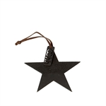 Lübech Living Star Ornament Half Sanded Black - Fransenhome